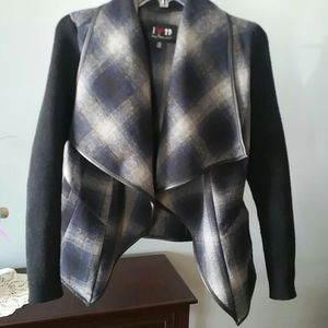 Plaid Sweater Jacket by Boy Meets Girl Medium